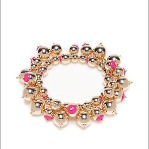 Crown & IvyGoldTone Preppy Picnic Stretch Bracelet